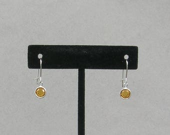 November Birthstone- Topaz Drop Earrings