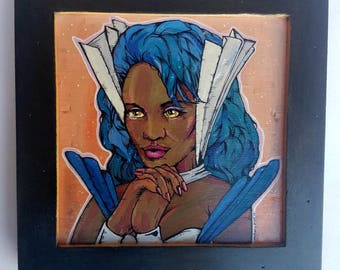 Netossa She-Ra framed wooden painting Masters of the Universe Princess of Power - original acrylic paintings