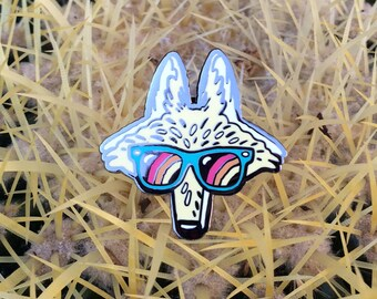 Los Angeles Coyote Cloisonne Enamel Pin