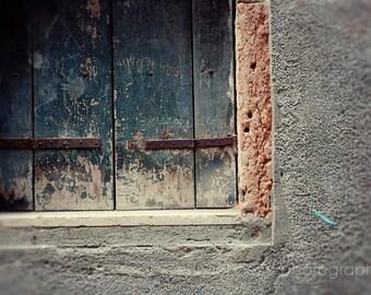 venice italy photography, travel decor, window photography, blue home decor, detail photograph, italian, V31