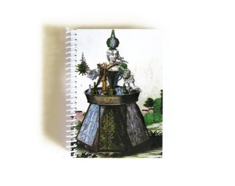Lady Glass Maker Small Notebook, Blank Sketchbook, Writing Journal, Back to School, Paper, Gifts Under 20, Cute, A6, Spiral Bound, Pocket