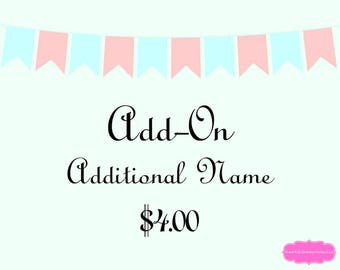 Add-On Additional Name