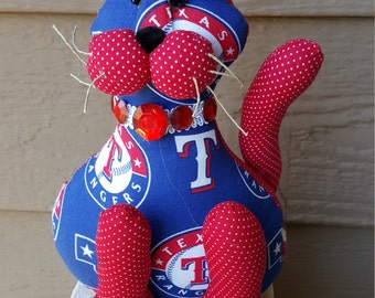 Texas Rangers baseball cat