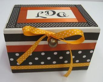 Bridal Recipe Box Golden Harvest