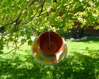 Bowl and Plate Bird Feeder, Multicolored