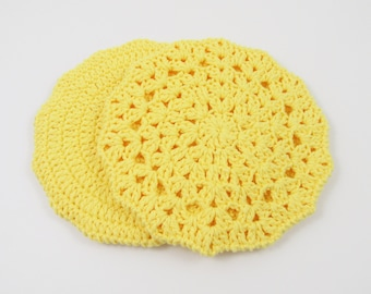 Hot Pads for Kitchen, Circle Potholders, Crochet Hot Pads Thick
