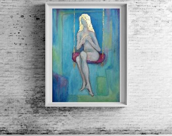 DREAM SWING acrylic on canvas with certificate of authenticity