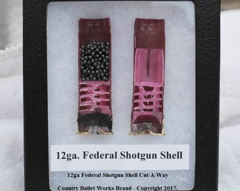 12ga Federal Shotgun Shell Cut-A-Way Display - CBW Exclusive