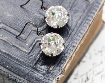Brilliant Crystal Rounds - Estate Style Earrings - FREE SHIPPING