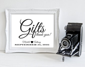 Wedding Cards And Gifts | Wedding Sign | Gift Table Sign Printable Wedding Reception Decor |  SKU# CWS304_2122C