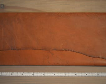 Horween Leather Clutch with Raw Edge