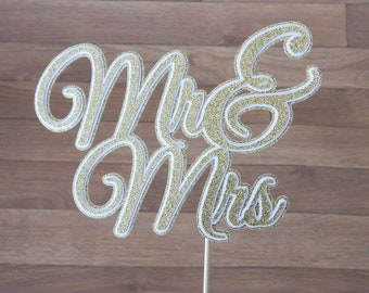 CLEARANCE. Mr and Mrs Cake Topper