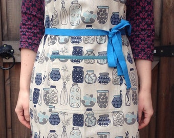 Blue Jar Drawstring Apron