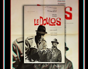 LE DOULOS (1962) Jean Paul Belmondo Very Rare 24x32 Fold French Moyenne Movie Poster Original Vintage Collectible