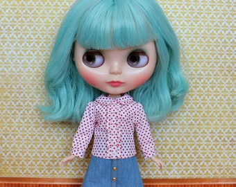 Blythe Top, Floral Blouse with collar