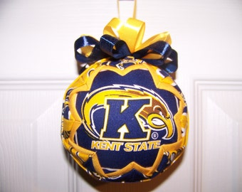 Kent State/ Golden Flashers Quilted Ornament