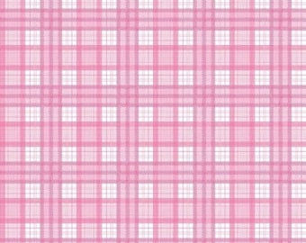 Pink Plaid from Riley Blake Design's J is For Jeep Collection