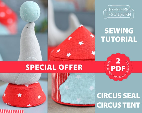 2 PDF Sewing Patterns, Fabric Miniature Sewing Tutorial, Christmas ...