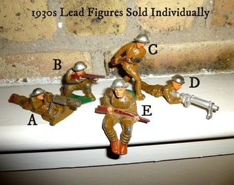 1930s Vintage Lead Toy Soldiers YOU SELECT / Sold Individually