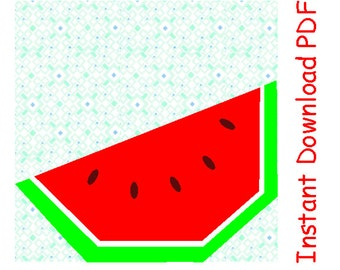 Watermelon fruit PDF quilt paper foundation Sewing Pattern INSTANT DOWNLOAD