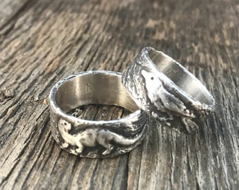 Otter and Raven Ring