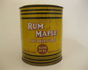 Vintage Rum and Maple Pipe Mixture Tobacco Tin