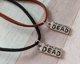 Fandom necklace, fandom jewelry, zombie necklace, zombie jewellery, gifts for him, gifts for her, horror necklace, steampunk necklace