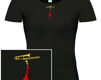 WOMAN T-shirt Trombone