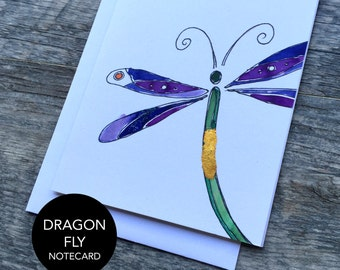 Dragonfly Notecard Set of 3 or 6