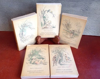 1939 -1942 French Poetry Books by Paul Verline / 5 Total