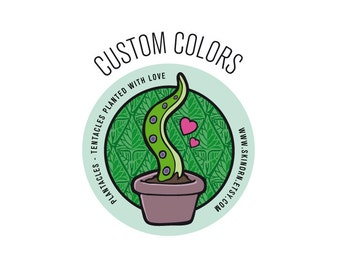 Custom Colors | Plantacle Handmade Planted Tentacle in Flower Pot