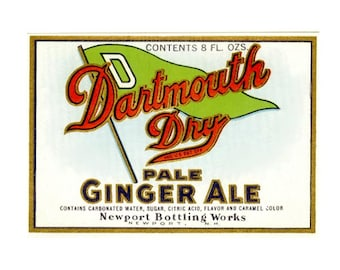 2 Dartmouth Dry Pale Ginger Ale Labels