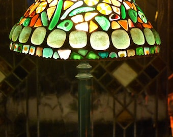 Stained GlassTiffany Lamp, Desk Lamp, Table Lamp, Stained Glass Fusion Lamp, Bedside Lamp, Nightstand Decor, Decorative Lamp