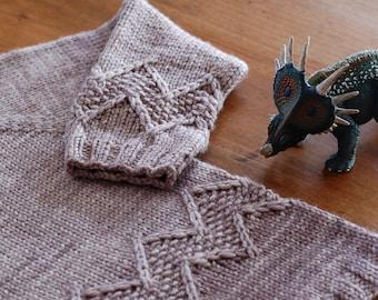 Chuck PDF knitting pattern / Fiche tricot PDF pullover chevrons