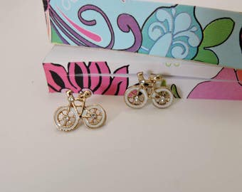Bicycle Earring, Stud Earrings, Novelty Earrings