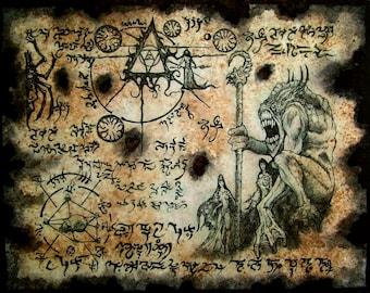 DEMON REALMS Cthulhu larp Necronomicon Fragment occult magick