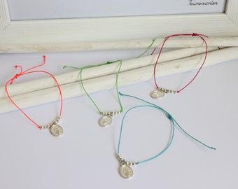 Miraculous Virgin cord bracelet colors