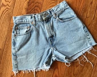 Vintage Levis Cut Off Denim Shorts