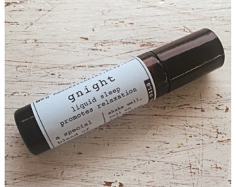 Gnight roller ball blend for sleep and relaxation / comfort blend / sleep / sleep support / Frankincense / synergy blend essential oil