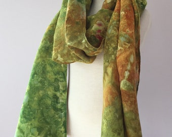 Ice Dyed Pure Linen Scarf, #016
