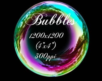 Soap bubbles overlay for photoshop