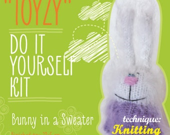 Tz-K005 Toyzy Kit «Bunny In A Sweater» - Technique Knitting
