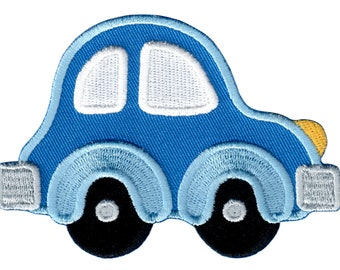 Car Iron-On Patch Applique -  Kids / Baby