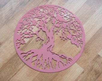 Tree Of Life, PINK, Wall decor, Metal Art