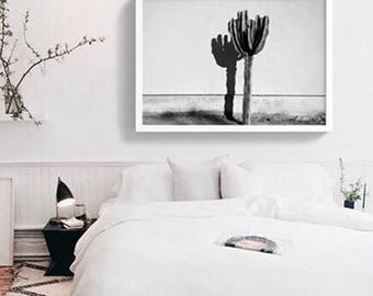 The Cactus ART PRINT Poster | Black and white Cacti Photography artwork Saguaro succulent Cactus love | Desert Decor Style Poster Modern