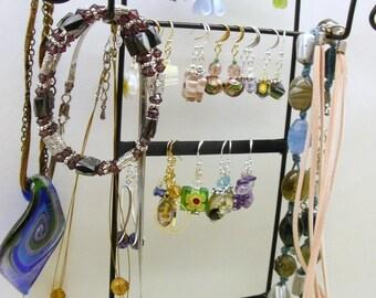 Affichage de bijoux organisateur - organisateur de bijoux, boucle d'oreille