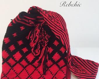 "Large Boho bags worn over shoulders - style chic bag - ""wayuu"""
