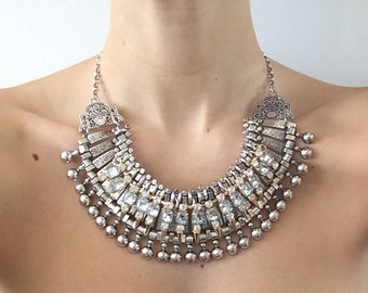 "Stacked Statement Necklace- ""Uno"" Wrecklace"