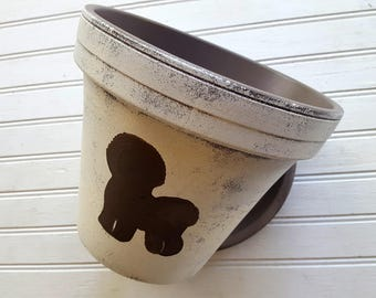 Bichon Frise Breed - Painted Flower Pot - Large Planter - 8 inch Planter - Dog Lover Gift -