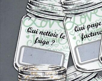 """Jeunes mariés - 8 cartes à gratter """"vert et or"""""""